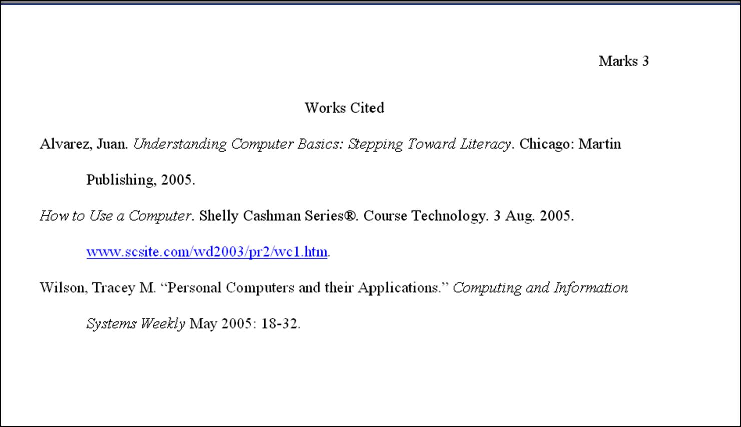 Research Paper Works Cited Page New Calendar Template Site